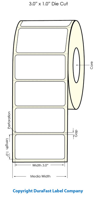 "Primera LX900 3""x1"" White Polyester Labels | Primera LX900 Labels | Labels"