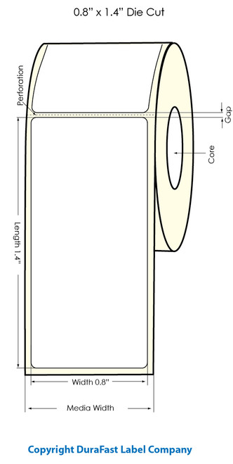 "Primera LX900 0.8""x1.4"" White Polyester Labels | Primera LX900 Labels | Labels"