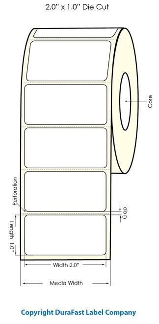 "Primera LX900 2""x1""  Clear Polyester Labels | Primera LX900 Labels | Labels"