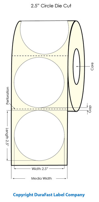 Primera LX900 2.5 inch Circle  Clear Polyester Labels | Primera LX900 Labels | Labels