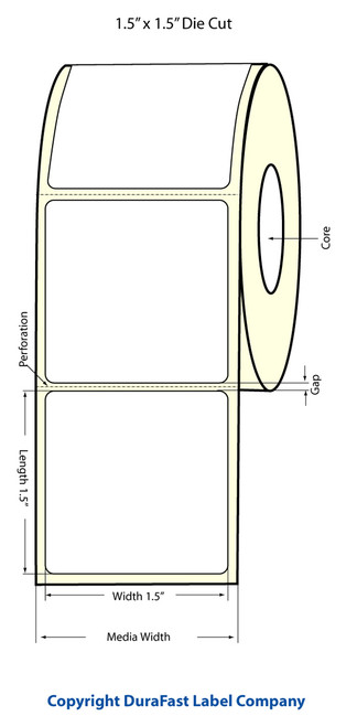 "Primera LX900 1.5""x1.5"" White Matte Labels | Primera LX900 Labels | Labels"