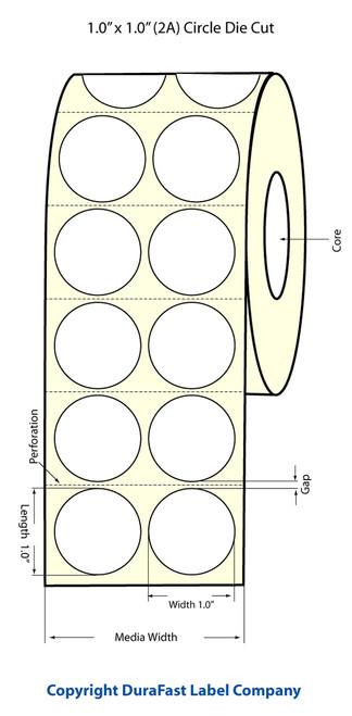Primera LX900 1 inch Circle (2 Across) White Matte Labels | Primera LX900 Labels | Labels