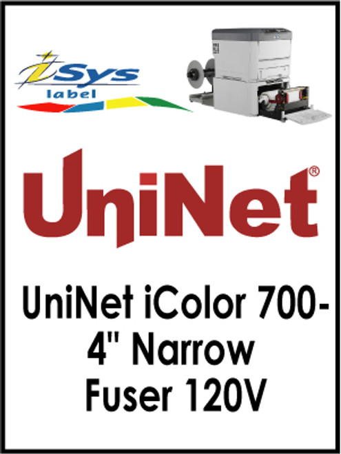 "UniNet iColor 700-4"" Narrow Fuser 120V"