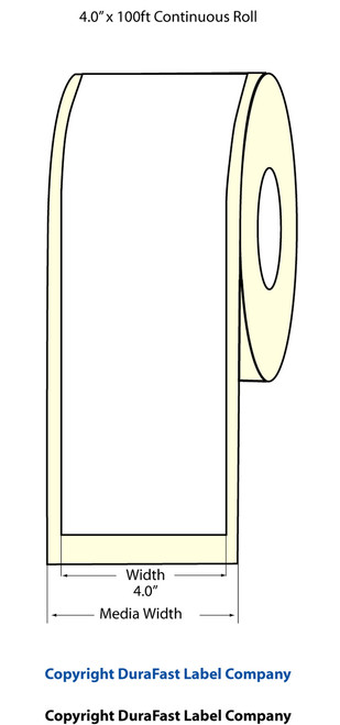 "Epson TM-C3500 | ColorWorks C3500 4"" High Gloss Label Roll 100 Feet | Epson Media 811004"