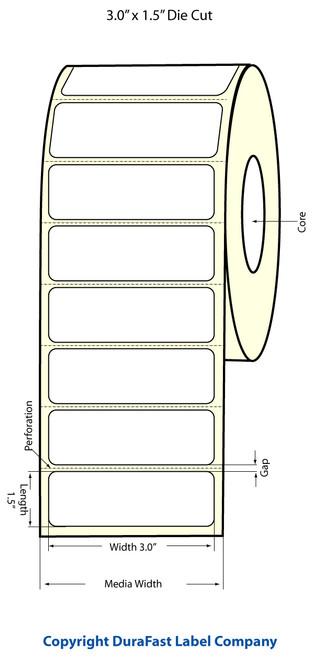 Epson TM-C3500 | ColorWorks C3500 3x1.5 High Gloss Label Roll | Epson Media | 811014