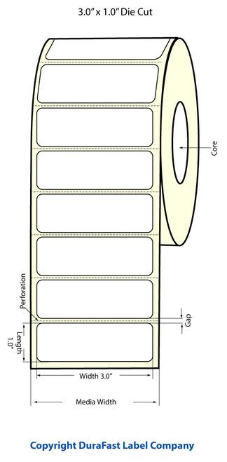 Epson TM-C3500 3x1 Matte Labels | Epson Media | 812013