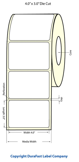Epson TM-C3500 4x3 Matte Labels | Epson Media | 812020
