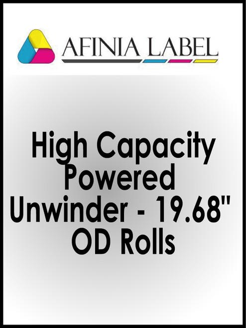 "Afinia DLP-2000 High Capacity Powered Unwinder for 19.68"" OD Rolls"