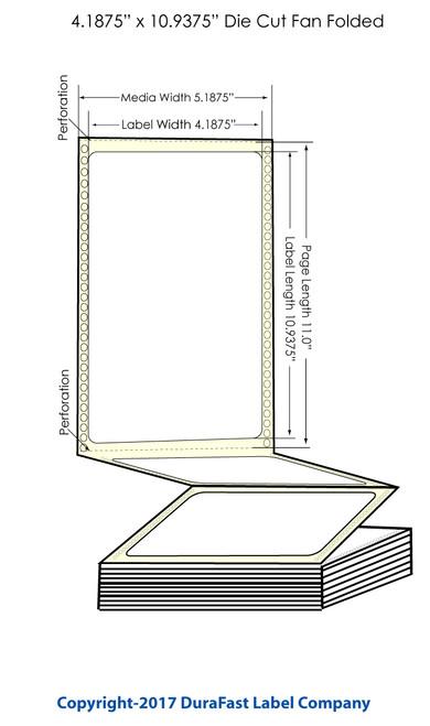 "DuraFast 4 3/16"" x 10 15/16"" Chemical Labels for Epson GP-C831 Label Printer - 600/Carton"