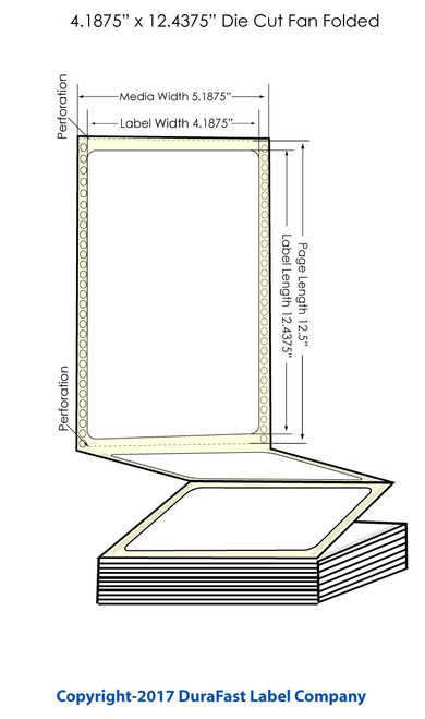 "DuraFast 4 3/16"" x 12 7/16"" Chemical Labels for Epson GP-C831 Label Printer - 600/Carton"