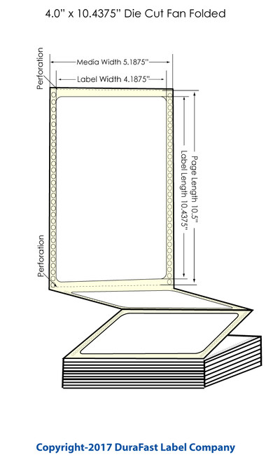 "DuraFast 4"" x 10 7/16"" Chemical Labels for Epson GP-C831 Label Printer - 600/Carton"
