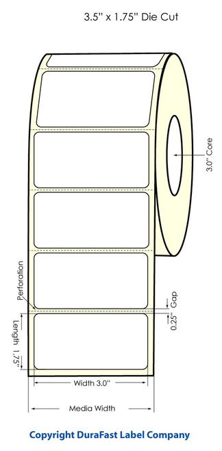 """Primera LX900 3.5"""" x 1.75"""" High Gloss Label Roll"""
