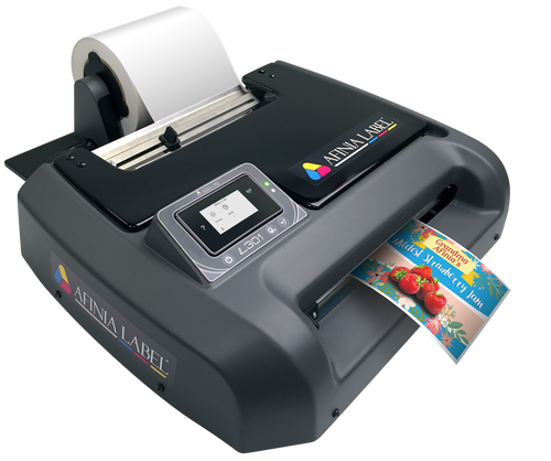 Afinia L301 colour label printer uses a tri-color ink cartridge to print all the colors (CMY)