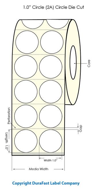 "Primera LX900 1""x1"" (2 Across) Clear Polyester Labels | Primera LX900 Labels | Labels"