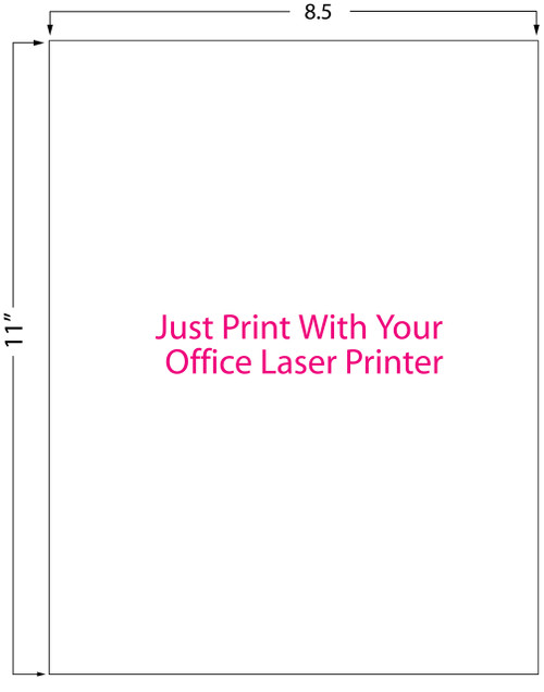 "Inkjet | Laser 8.5"" x 11"" High Gloss Sheet Label 200/Pack (697005)"