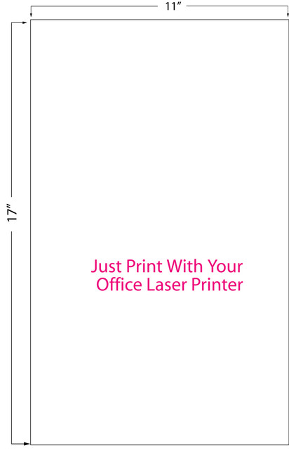 "Inkjet | Laser 11"" x 17"" High Gloss Sheet Label 200/Pack (697006)"