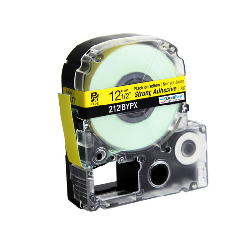 """Epson 212IBYPX 1/2"""" Yellow Glossy Polyester Label PX Tape"""