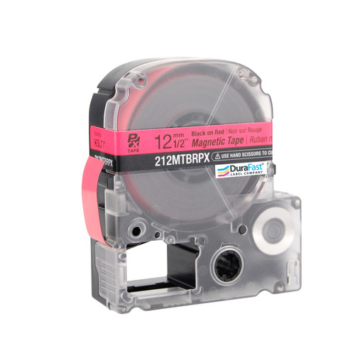 """Epson 212MTBRPX 1/2"""" Red Glossy Magnetic PX Tape"""
