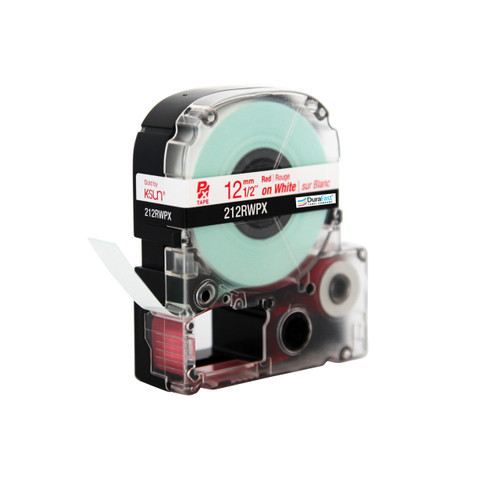 """Epson 212RWPX 1/2"""" White Glossy Polyester Label PX Tape"""