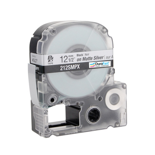 "Epson 212SMPX 1/2"" Silver Matte Polyester Label PX Tape"