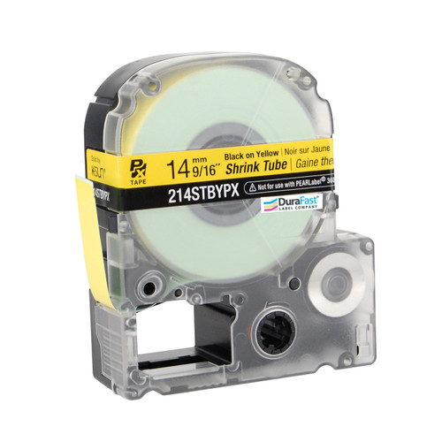 """Epson 214STBYPX 9/16"""" Yellow Matte Heat Shrink Tube PX Tape"""