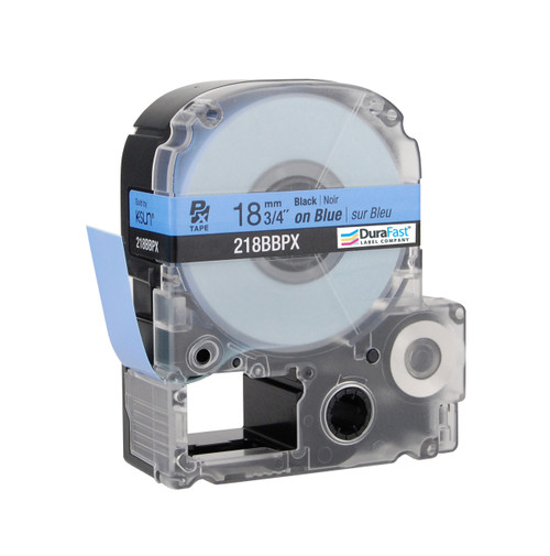 "Epson 218BBPX 3/4"" Blue Glossy Polyester Label PX Tape"