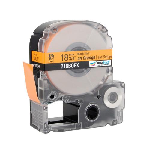 "Epson 218BOPX 3/4"" Orange Glossy Polyester Label PX Tape"