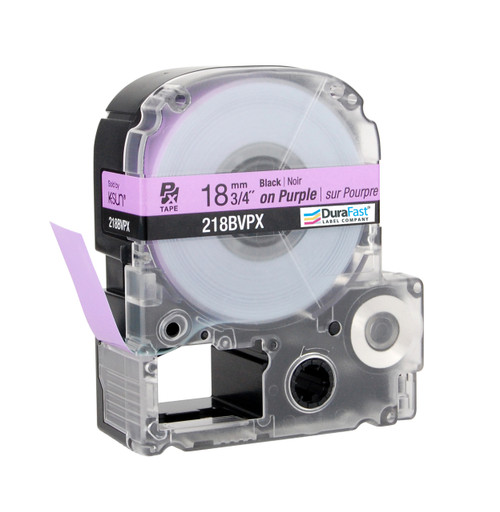 "Epson 218BVPX 3/4"" Purple Glossy Polyester Label PX Tape"