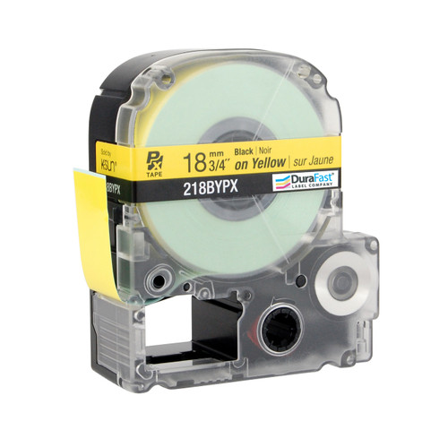 """Epson 218BYPX 3/4"""" Yellow Glossy Polyester Label PX Tape"""