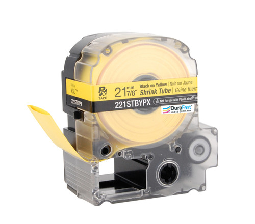 """Epson 221STBYPX 7/8"""" Yellow Matte Heat Shrink Tube PX Tape"""