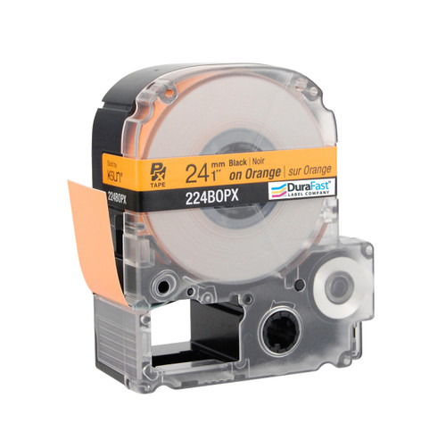 "Epson 224BOPX 1"" Orange Glossy Polyester Label PX Tape"