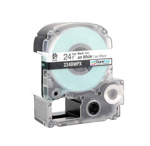 """Epson 224BWPX 1"""" White Glossy Polyester Label PX Tape"""