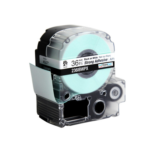 """Epson 236IBWPX 1 1/2"""" White Glossy Polyester Label PX Tape"""
