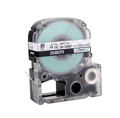 """Epson 204BCPX 1/6"""" Clear Glossy Polyester Label PX Tape"""