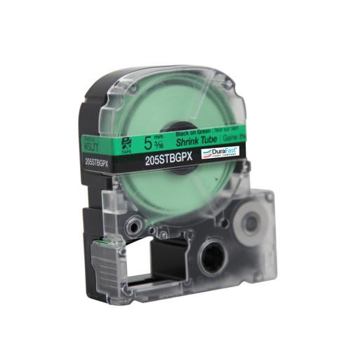 "Epson 205STBGPX 3/16"" Green Matte Heat Shrink Tube PX Tape"
