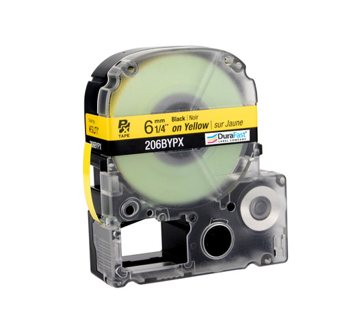 "Epson 206BYPX 1/4"" Yellow Glossy Polyester Label PX Tape"
