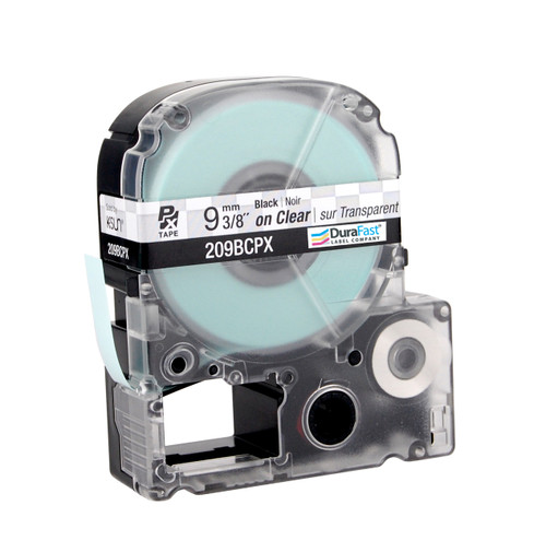 """Epson 209BCPX 3/8"""" Clear Glossy Polyester Label PX Tape"""