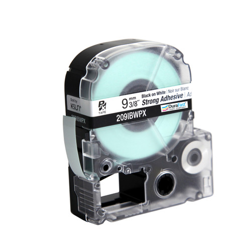 "Epson 209IBWPX 3/8"" White Glossy Polyester Label PX Tape"