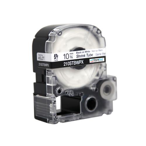 """Epson 210STBWPX 3/8"""" White Matte Heat Shrink Tube PX Tape"""