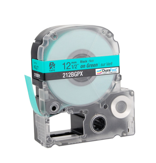 """Epson 212BGPX 1/2"""" Green Glossy Polyester Label PX Tape"""