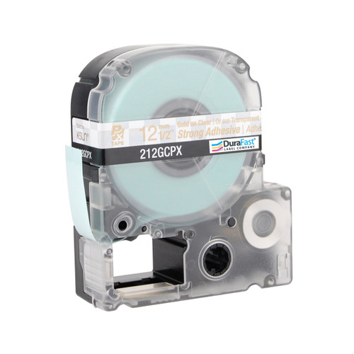 """Epson 212GCPX 1/2"""" Clear Glossy Polyester Label PX Tape"""