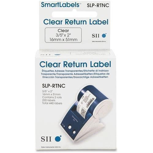 Seiko SLP620/650 0.6 x 2 Clear Address Labels SLP-RTNC