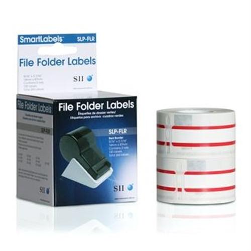 Seiko SLP620/650 0.5625 x 3.375 White File Folder Labels SLP-FLR