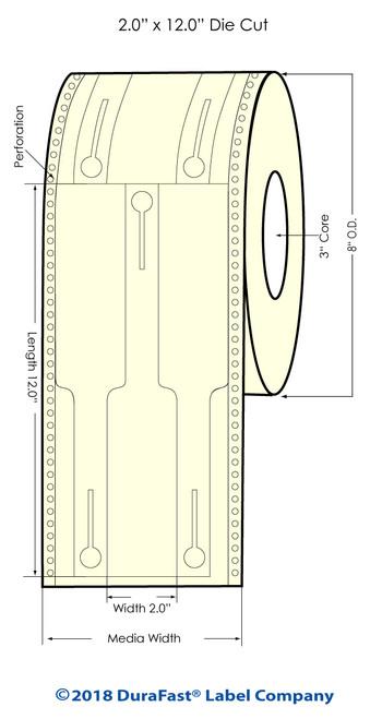 "GP-C831 2.5"" x 5"""" Hanging Basket Tags 500/Roll (805054)"