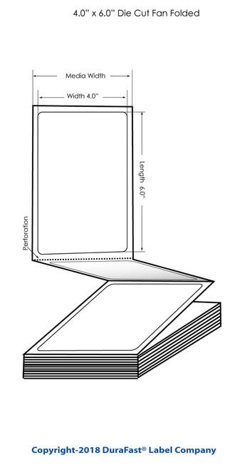 "TM-C3500 4"" x 6"" High Gloss Tags 1000/Carton"
