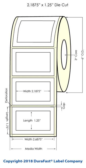 """LX900 2.1875"""" x 1.25"""" Matte Paper Label 1400/Roll"""