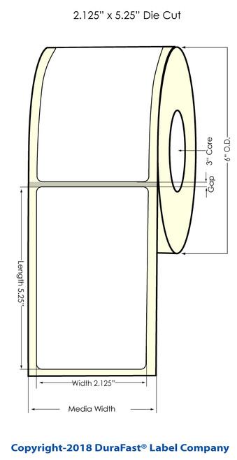 "TM-C7500 2.125"" x 5.25"" 3M Glossy Chemical Label 330/Roll"