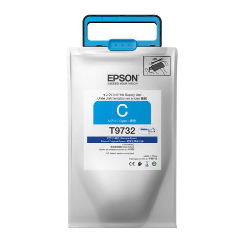 Epson T973 High-capacity DURABrite Pro Ink packs CYAN INK SUPPLY WF-C869R