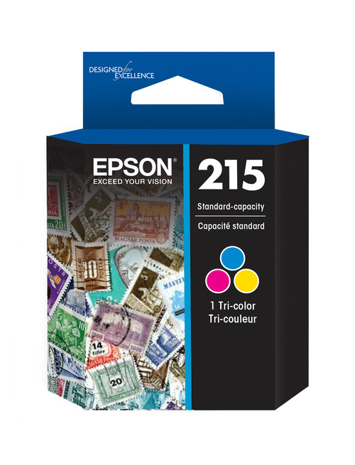 Epson 215 Tri-Color Ink Cartridge for WorkForce WF-100/WF-C110 Mobile Printer (T215530)