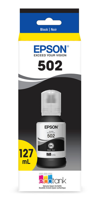 Epson T502 Pigment Black Ink Bottle with Sensormatic for ET-2750/3700/3750/4750